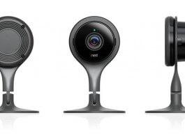 De Nest Cam heeft een simpel, stijlvol ontwerp.