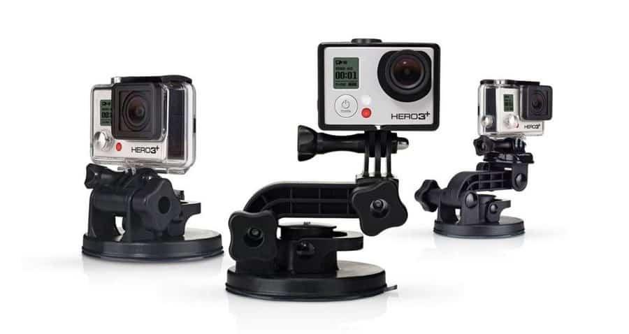 Met de zuignap zet je de GoPro eenvoudig vast aan gladde oppervlakken.